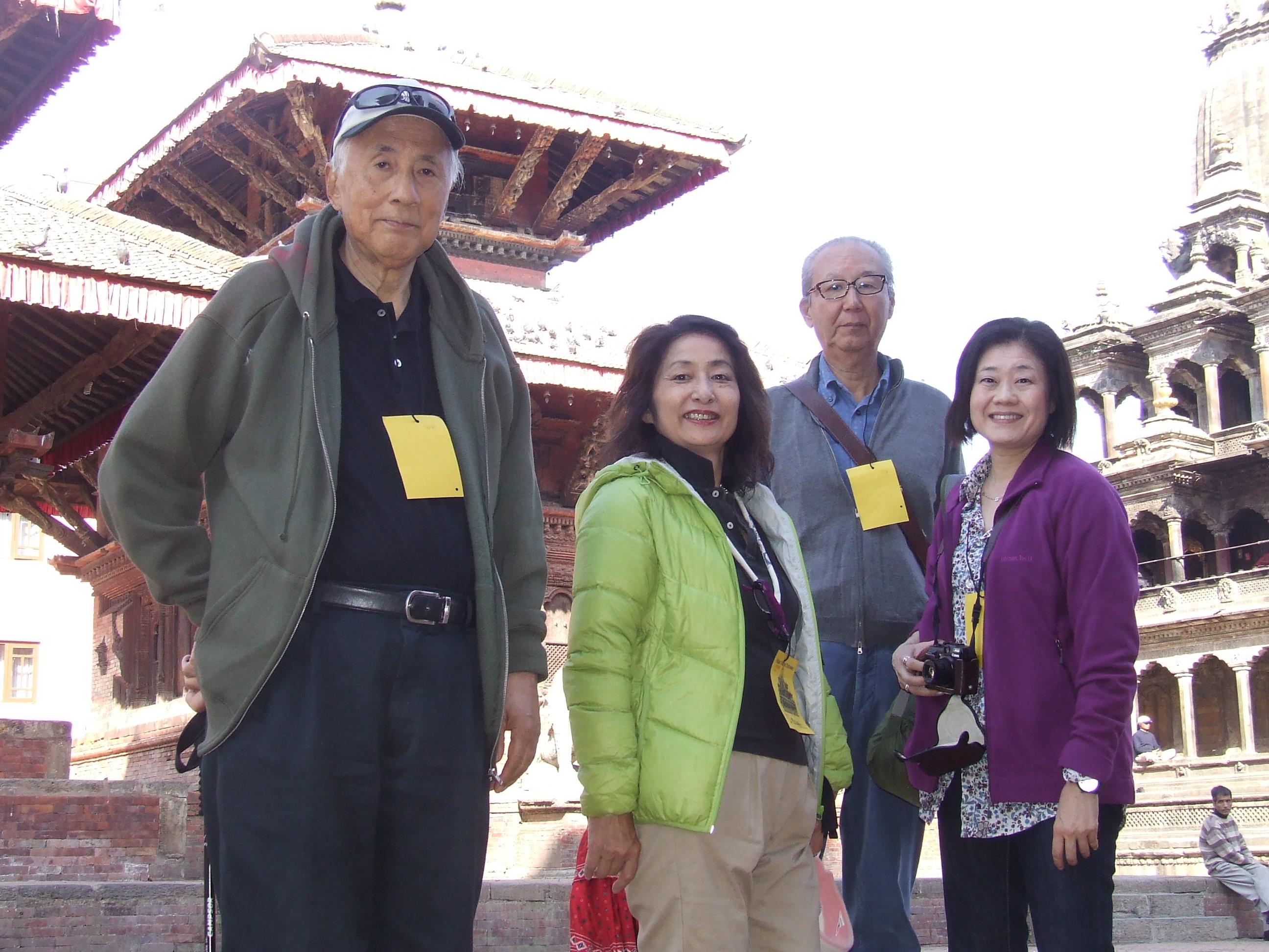 2_Arao-san and collaborators in Patan Durbar Square