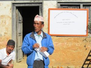 4_Principal Hira Kaji Tamang extending vote of thanks