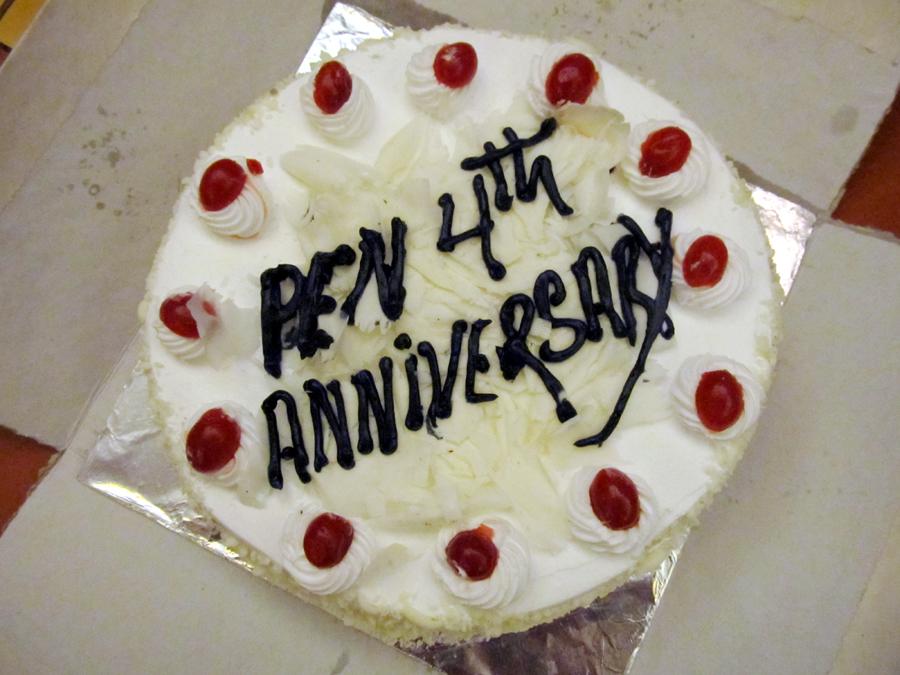 1_4th Anniversary Cake