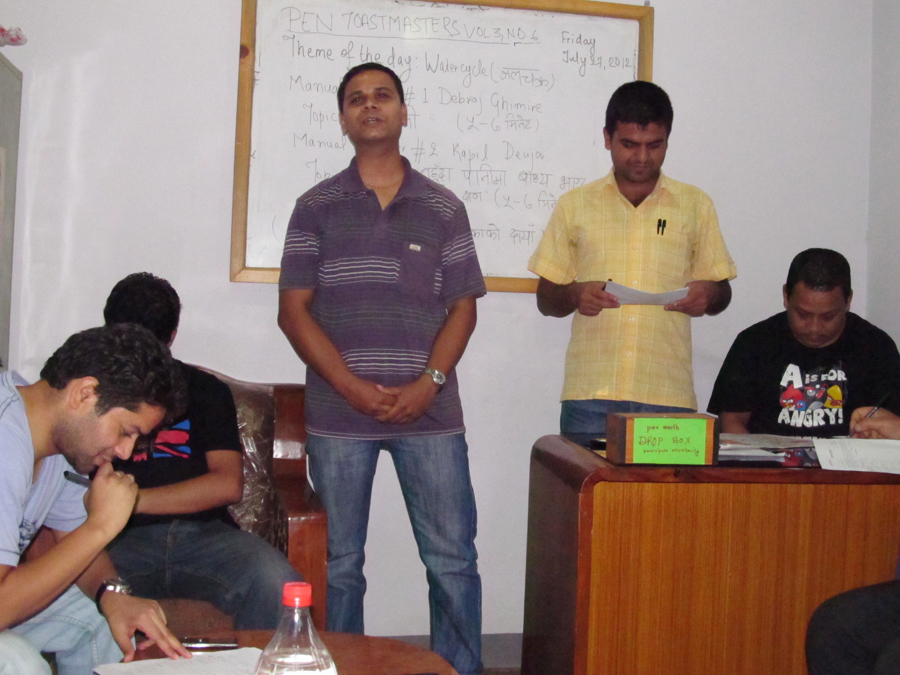 1_First manual speaker Debraj Ghimire with his speech