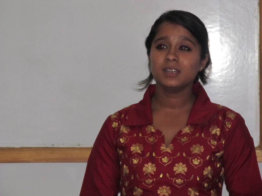 5_Table Topics speaker Mili Ghimire with her speech
