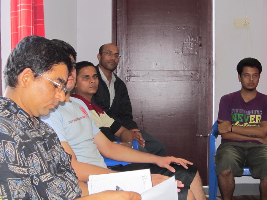 6_Evaluator Nilambar focused on note-taking
