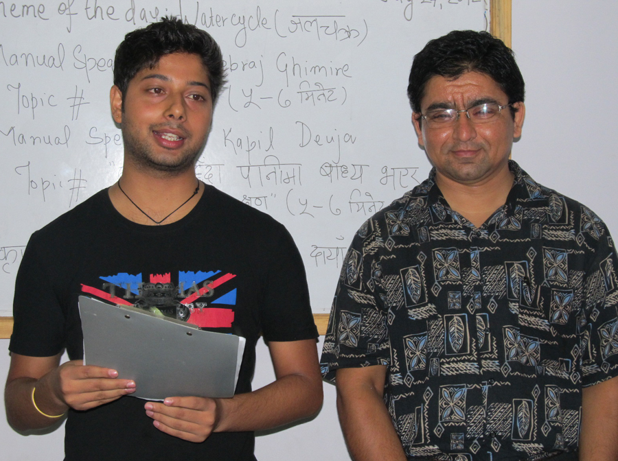 6_Evaluators duo Sachin Koirala and Nilambar Badal with their evaluation reports