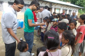 8_Pax team distributing soaps and toothpastes