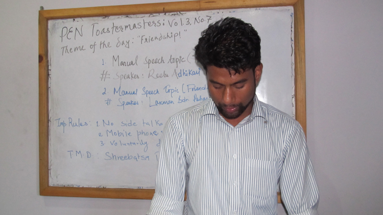 1_Toastmaster Shreebatsa Basnyat