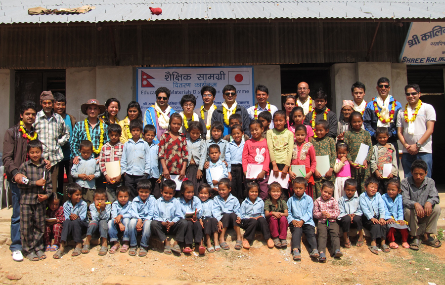 3_Group photo at Shree Kalika Primary School