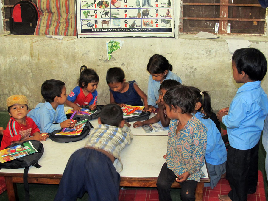 3_Students of Shree Kalika enjoying the stationery