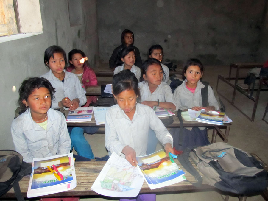 7_Students of Shree Raktakali After receiving the educational materials