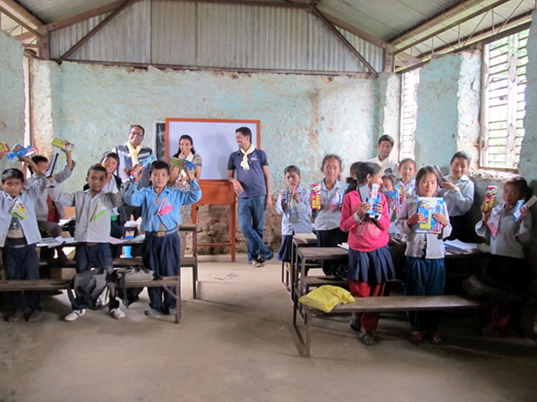 6_Students of Shree Raktakali School with the distributed materials
