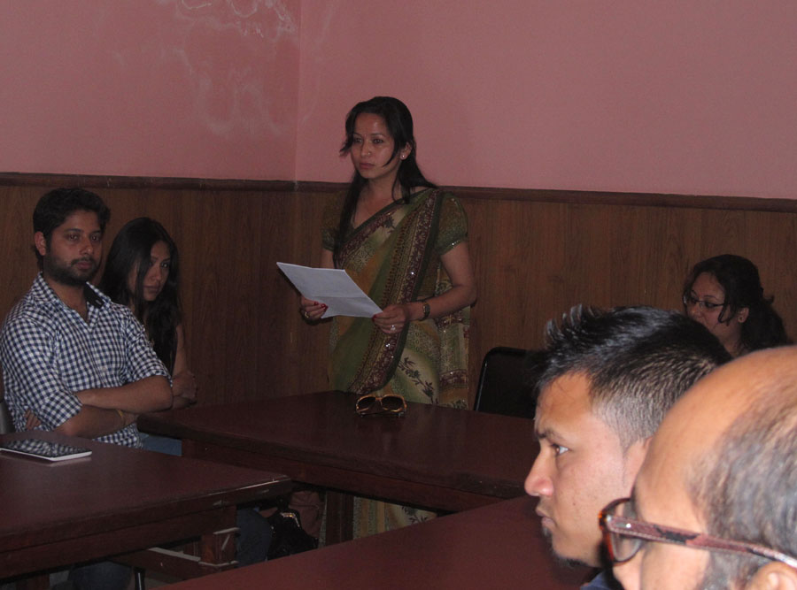 2_Welcome address by Kamala Basnet