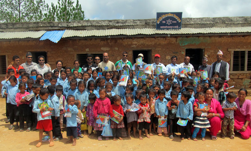 4_Group photo at Shree Seti Devi School after the distribution