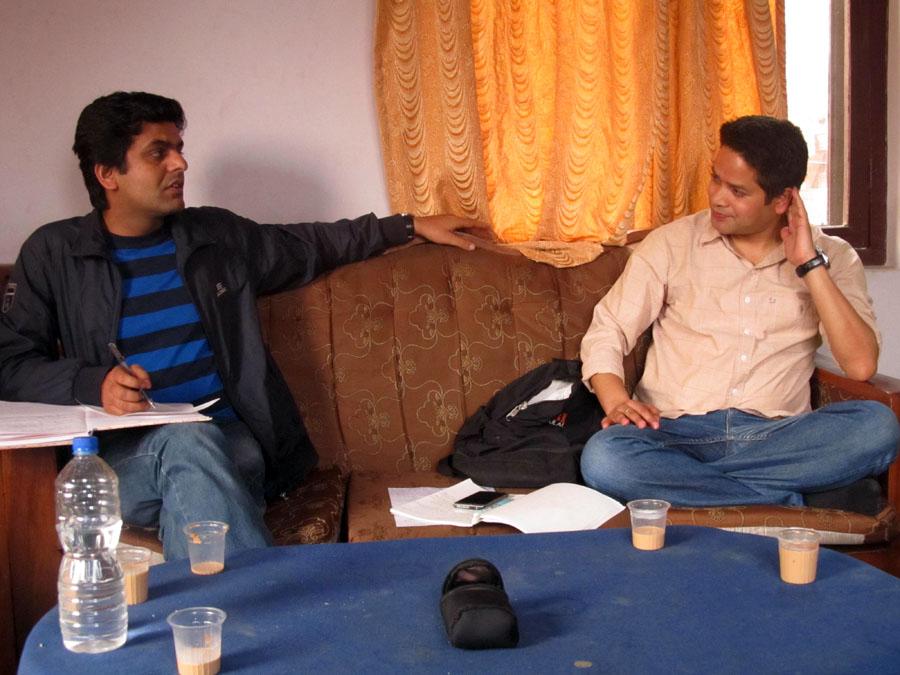 1_Secretary Binod P. Mainali and President Sujan Koirala