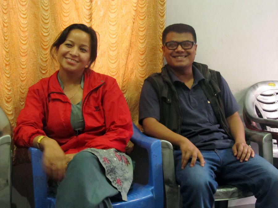 2_Executive Members Kamala Basnet and Laxman Pahari