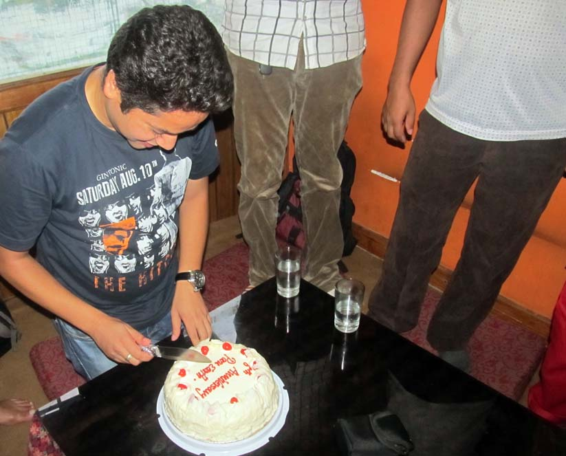 2_Cutting of cake by President Sujan Koirala