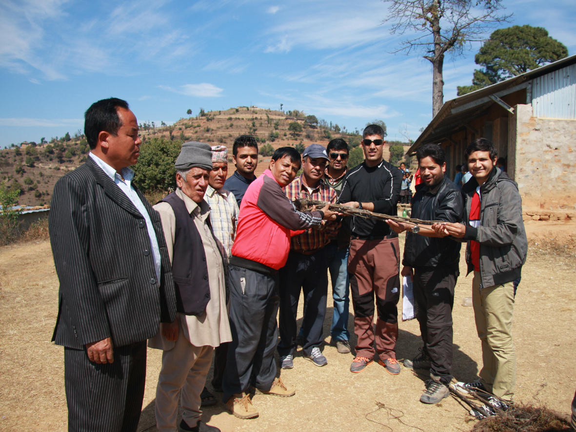 3_Pax team handing over tree plantation to Principal of Seti Devi