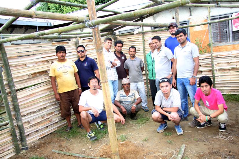 Construction of temporary rooms at Shree Ratkakali School