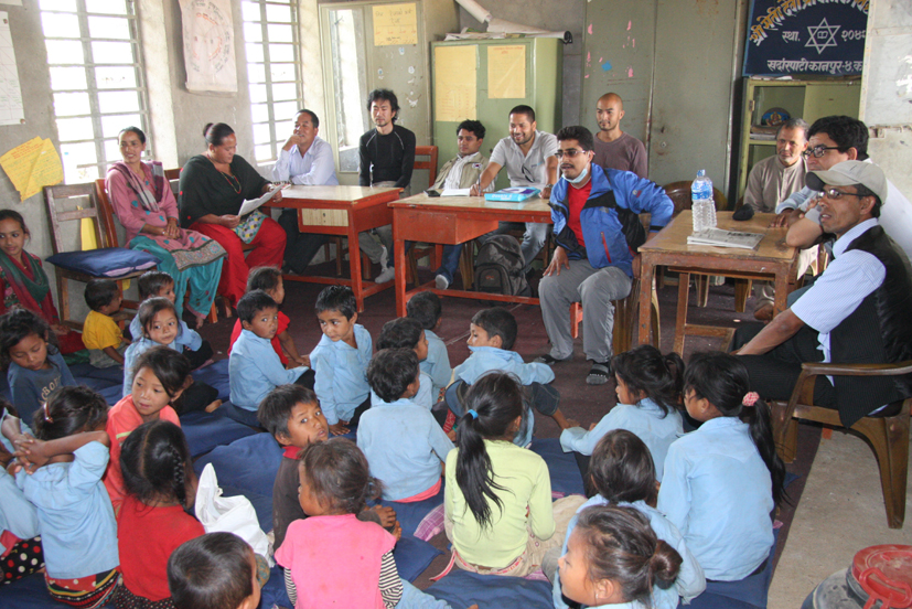 Psychosocial counselling session at Shree Seti Devi Primary School