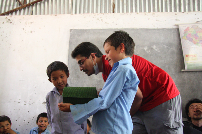 Psychosocial counselling session at Shree Kalika Primary School