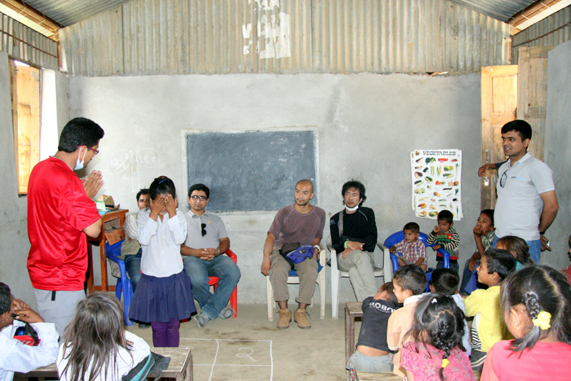 Psychosocial session at Shree Raktakali Primary School