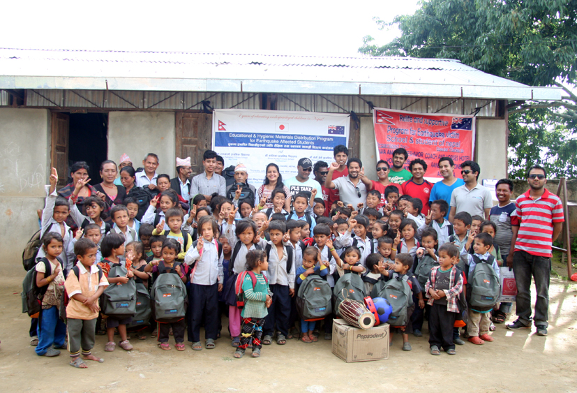 Educational and hygienic materials distribution on July 23