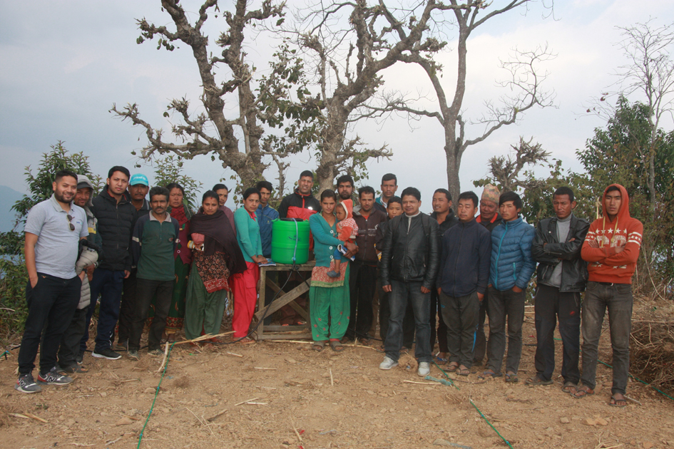 Group photo after drip irrigation workshop in Kot Timal village.
