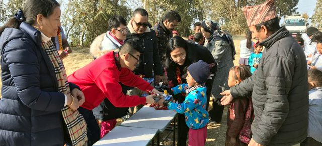 NINETY UNDERPRIVILEGED STUDENTS BENEFITED FROM SWEATER DISTRIBUTION PROGRAM IN KAVRE