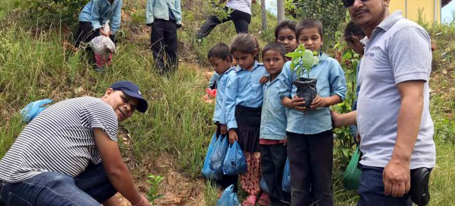 PAX EARTH ORGANISED TREE PLANTATION IN KAVRE