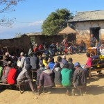 ENVIRONMENTAL WORKSHOP, EDUCATIONAL MATERIALS DISTRIBUTION AND VILLAGERS GATHERING IN KAVRE